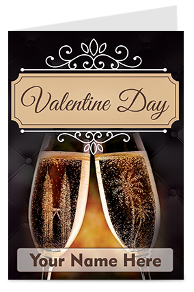 Champaign Themed Valentine's Day Greeting Cards