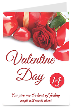 Roses And Heart Themed Valentine's Day Greeting Cards
