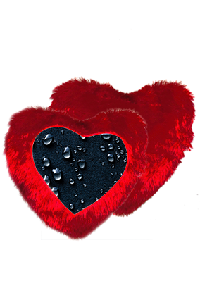 Dark Water Drop Heart Shape Red Cushion