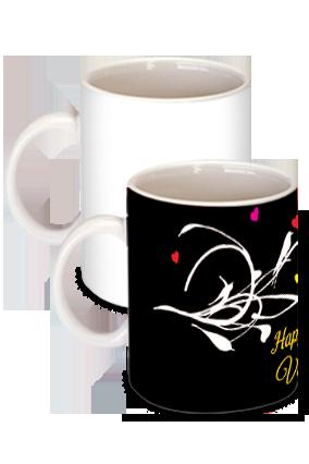 Amazing Black Floral Themed Mug