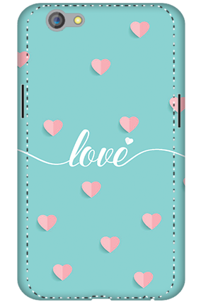 3D - Oppo F1S Greeny Pinky Love Mobile Cover