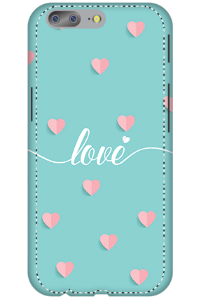 3D - OnePlus 5 Greeny Pinky Love Mobile Cover
