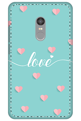 3D - Xiaomi Redmi Note 4 Greeny Pinky Love Mobile Cover