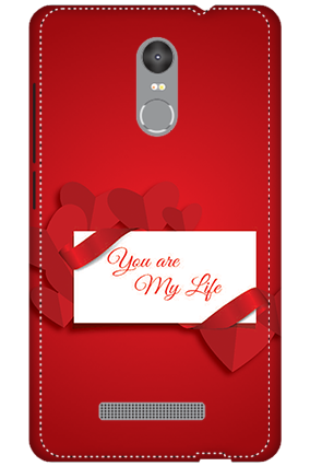 3D - Redmi Note 3 Darkish Red Heart Mobile Covers