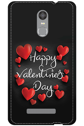 3D - Redmi Note 3 Darkish Black Red Heart Mobile Covers