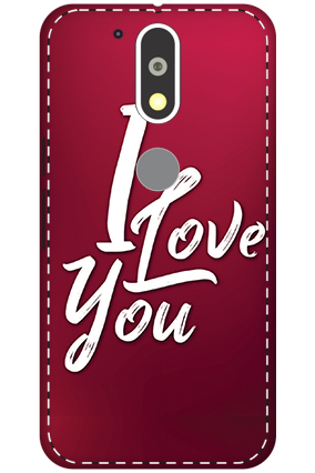 3D - Motorola Moto G4 Plus I Love You Themed Mobile Covers