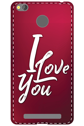 3D - Xiaomi Redmi 3S Prime I Love You Themed Mobile Covers