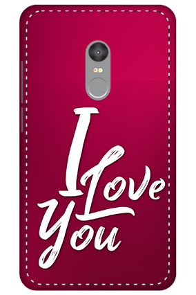 3D - Xiaomi Redmi Note 4 I Love You Themed Mobile Covers