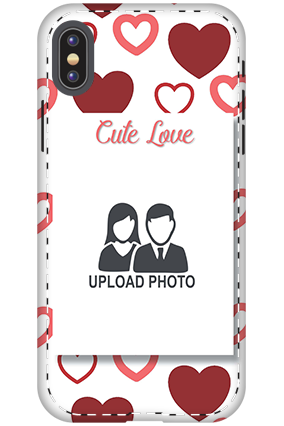 3D - Apple iPhone X Customized cute love mobile covers