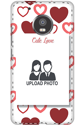 3D - Moto G5 Plus Customized Cute Love Mobile Covers
