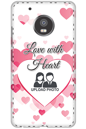 3D - Moto G5 Plus Love With Heart Mobile Cover