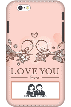 3D - IPhone 6s Peach Love Birds Mobile Covers