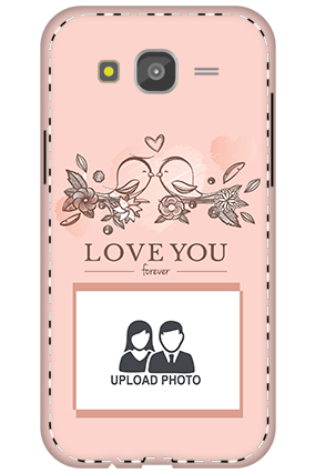 3D - Samsung Galaxy J5 Peach love birds mobile covers