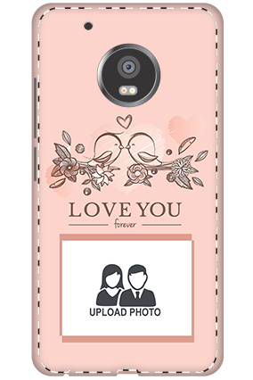3D - Moto G5 Plus Peach Love Birds Mobile Cover