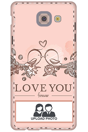 Customize 3D-Samsung Galaxy j7 Max Peach Love Birds Mobile Cover