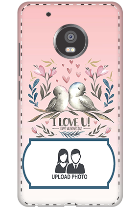 3D - Moto G5 Plus Love Pigeon Customized Mobile Cover