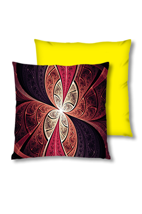 Abstract Art Velvet Square Yellow Cushion