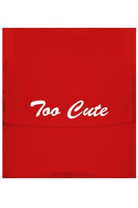 Custom Too Cute Red Cap