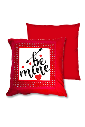 Be Mine Red Square Cushion