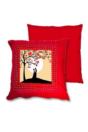 Couple Goals Red Square Cushion