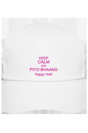 White Cap - Keep Calm And Happy Holi