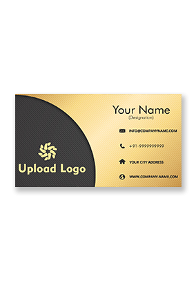 Black and Yellow Golden Metallic Business Card