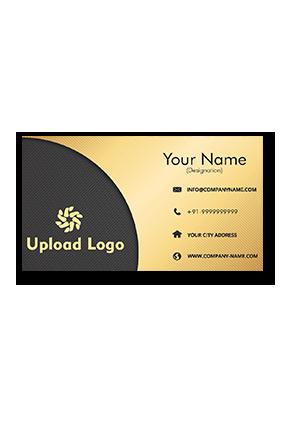 Black and Yellow Golden Metallic Business Card