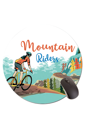 Mountain Riders Round Mouse Pad