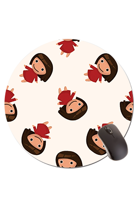 Little Girl  Round Mouse Pad