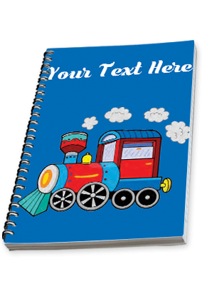 Running Train Side Spiral Notebook 2019