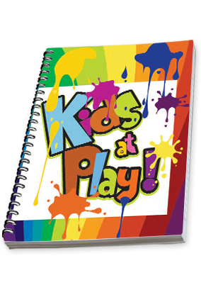 Kids At Play Side Spiral Notebook 2019