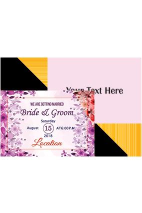 Gorgeous Pink Shading Landscape Wedding Invitation Card