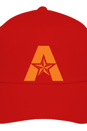 Alphabetic red Cap with Logo
