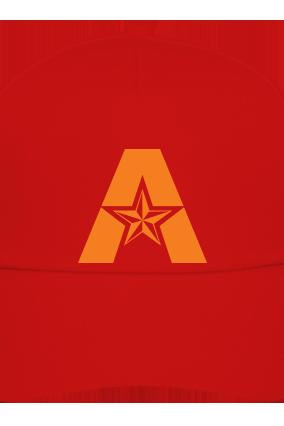 Alphabetic red Cap with Logo