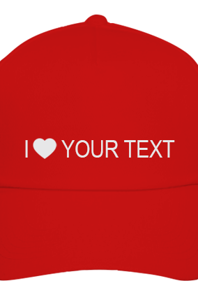 Text red Cap
