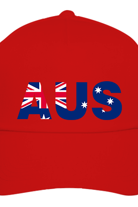 Australia red Cap with Logo