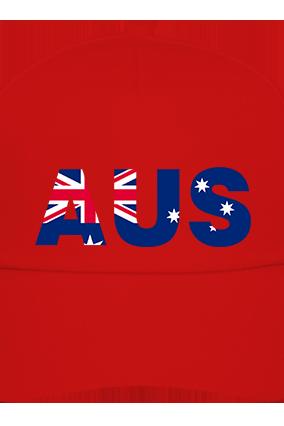 Australia red Cap with Logo