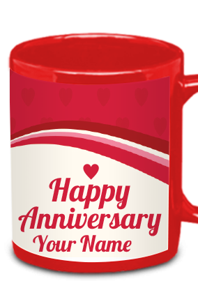 Personalized Dazzling Red Patch Mug