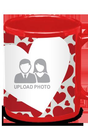 Big Hearts Red Patch Mug