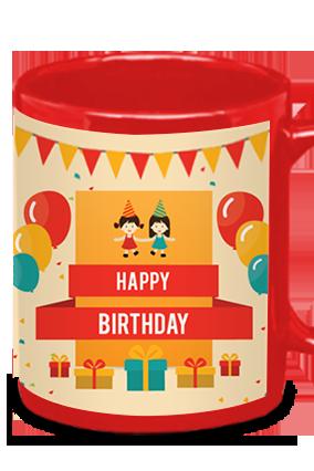 Birthday Red Patch Mug