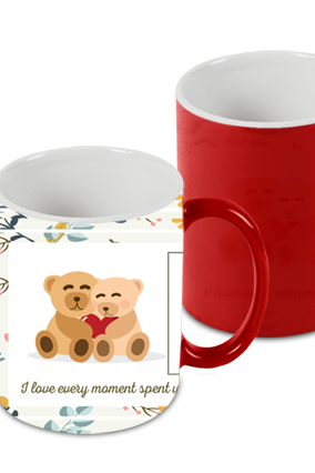 Best Friend Red Magic Mug