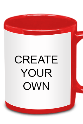 Create Your Own Red Patch Mug