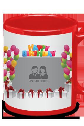 Decorative Red Patch Mug