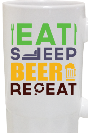 Eat & Sleep Beer Regal Beer Mug