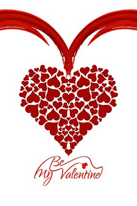 Be My Valentine Heart Designer Poster