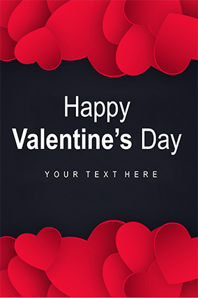 Beautiful Red Heart Valentine�S Day Poster