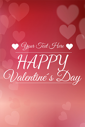 Customizable Name Valentine'S Day Poster