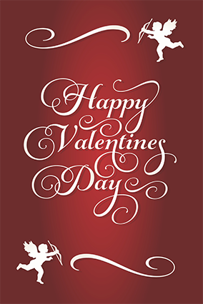Cupid Designed Valentine'S Day Poster