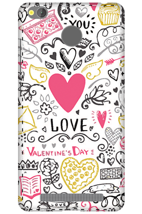 3D - Xiaomi Redmi 3S Prime Love Pray Love Mobile Covers