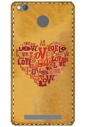 3D - Xiaomi Redmi 3S Prime Love In Heart Mobile Covers